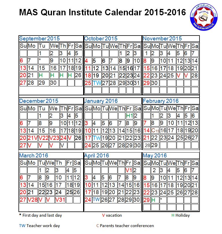 MASQI Calendar